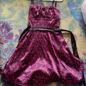 Collection Pink & Black Semi formal dress